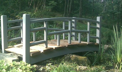Custom Made Custom Garden Stream Bridge