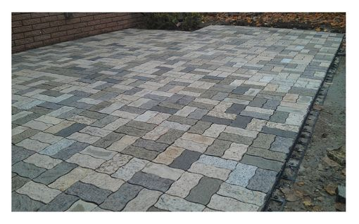 Custom Made Mixed Color Wavy Rectangle Pavers