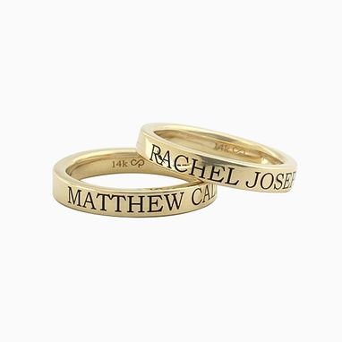 Custom Made Custom Engraved Stackable Name Rings