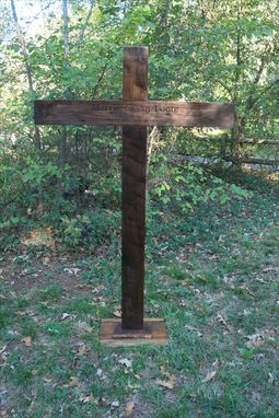 Custom Made Handcarved Memorial Cross