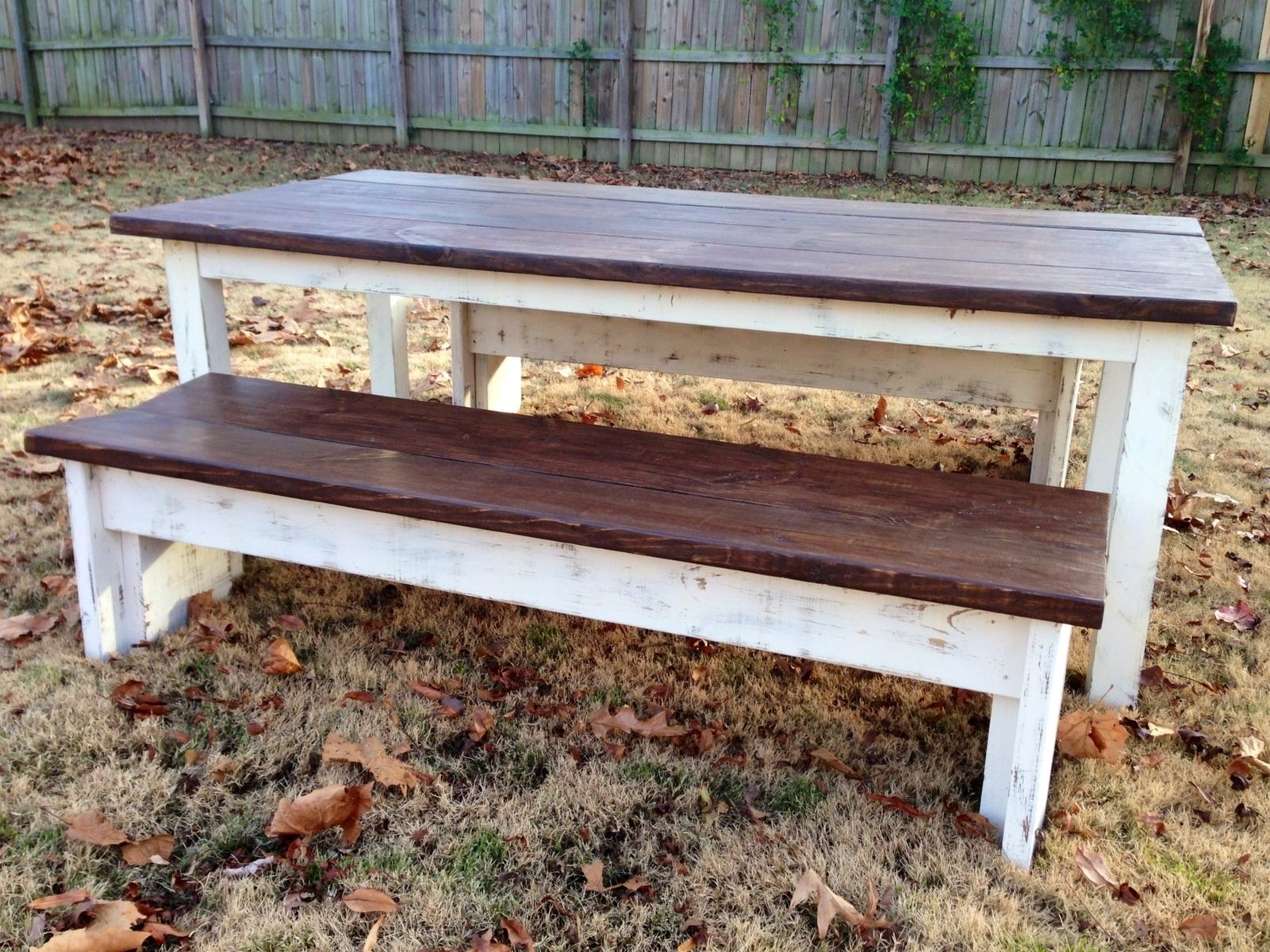 Custom Farmhouse Style Dining Table by Deep South Custom Creations ...