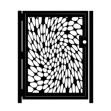 Custom Made Decorative Steel Gate - Twisted Metal Art - Illusion Wall Panel - Outdoor Gate - Driveway Gate