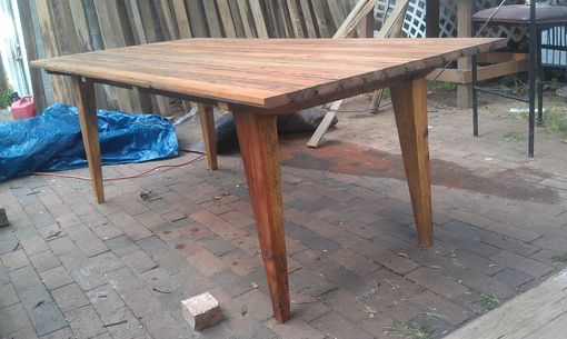 Custom Made Tapered Leg Dining Table