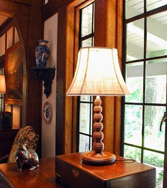 Custom Made Beaded Sphere Stack Table Lamp