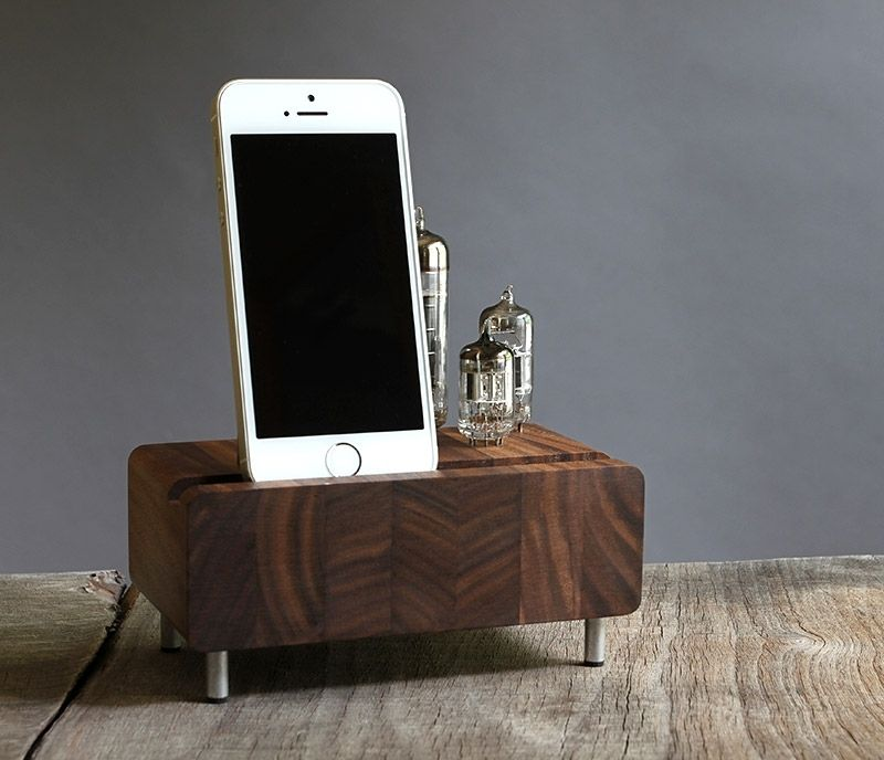 custom made handcrafted charging station for iphone samsung galaxy charging station kitchen central office