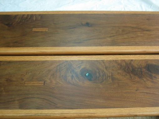 Custom Made Black Walnut And Red Oak Dining Benches