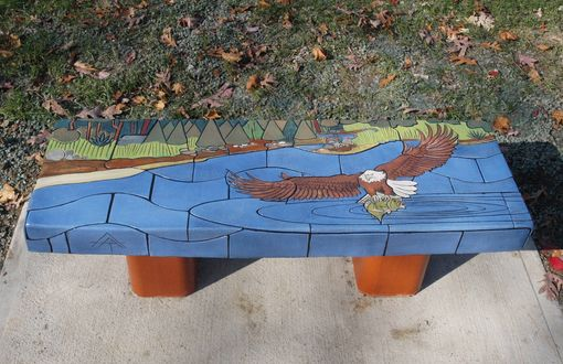 Custom Made Wilderness Tile Benches,
