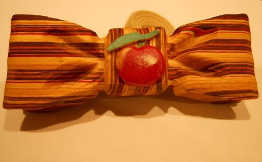 Custom Made Lyman Orchard Logo Wood Bow Tie