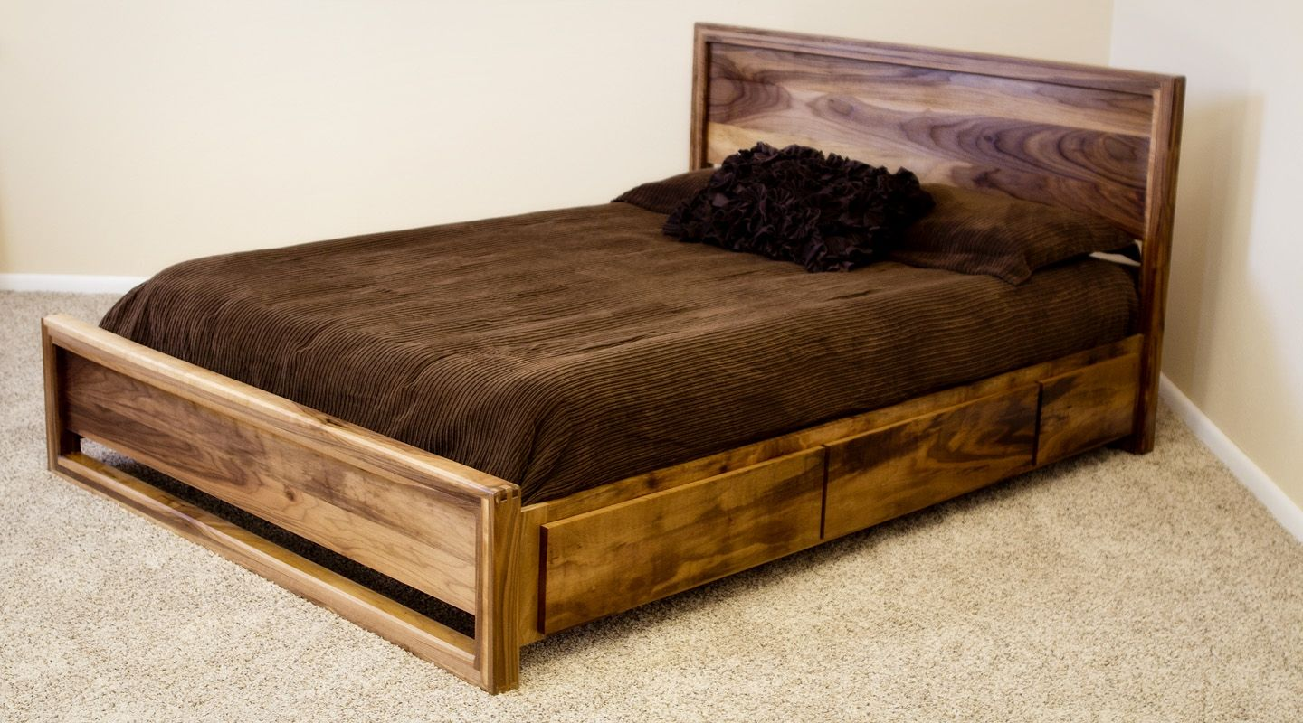buy a custom danish modern captains bed (swc ) king made to  - buy a custom danish modern captains bed (swc ) king made to order fromfurniture by phoenix  custommadecom