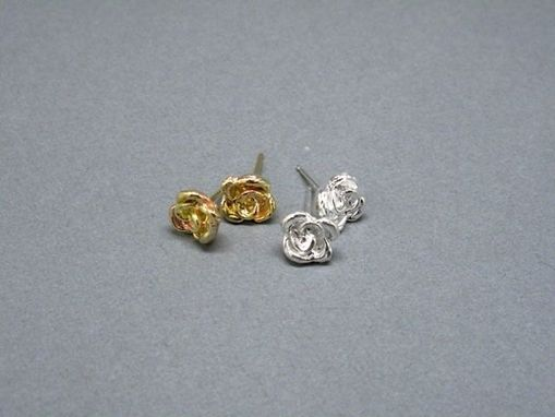 Custom Made Little Rose Studs Earrings - Sterling Silver