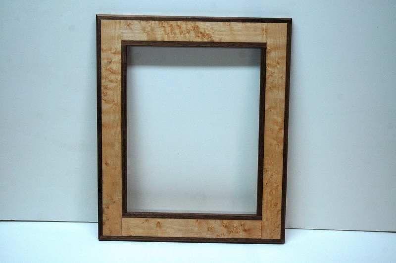 Custom Birdseye Maple W Walnut Trim Wall Picture Frame By