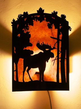 Custom Made Moose Sconce