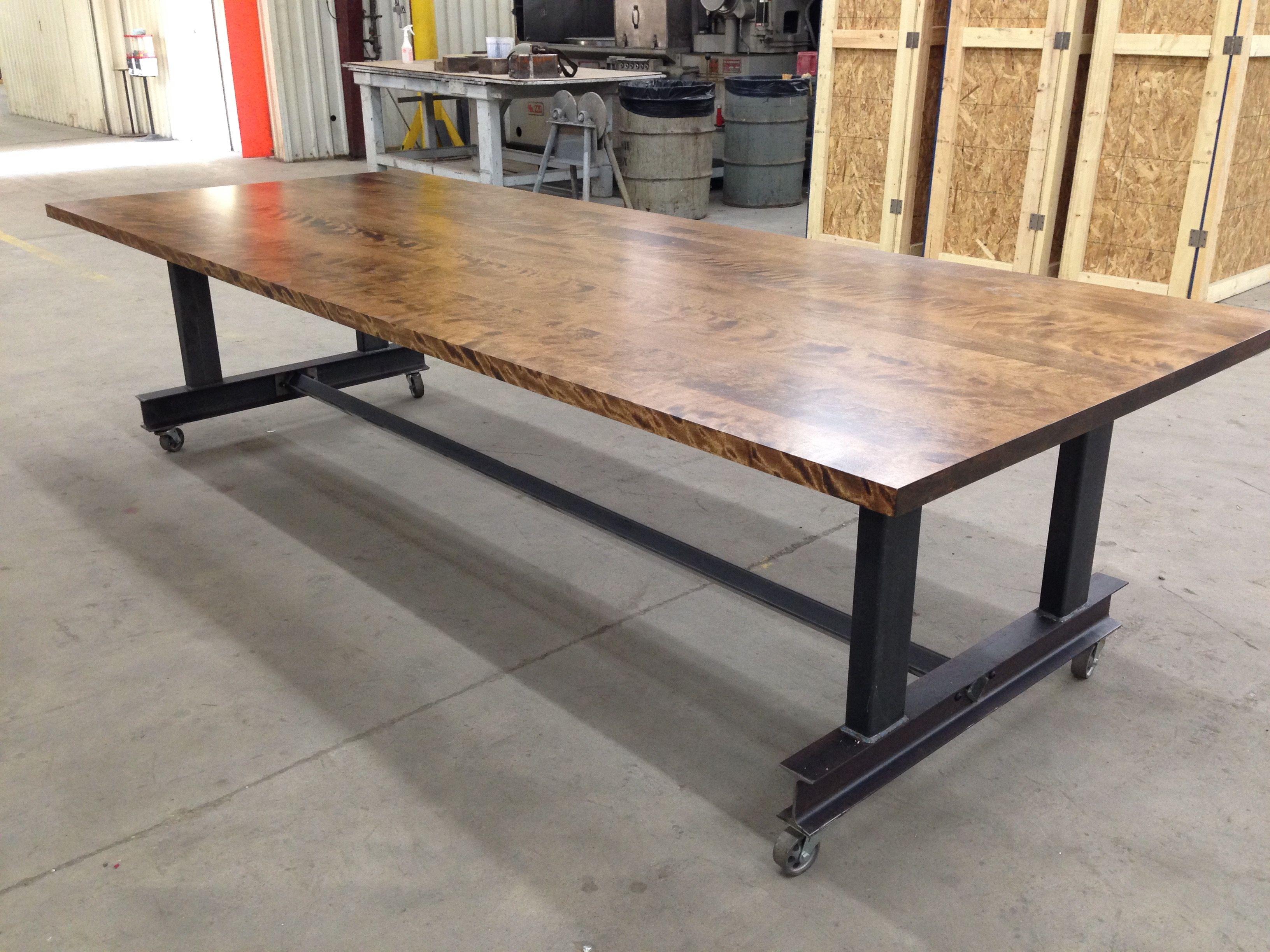 office tables on wheels. Custom Made The Glenn Industrial Conference Table Office Tables On Wheels T