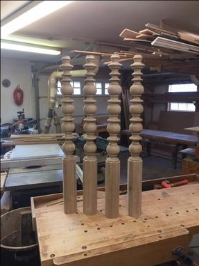 Custom Made Turned Stair Newel And Secondary Posts
