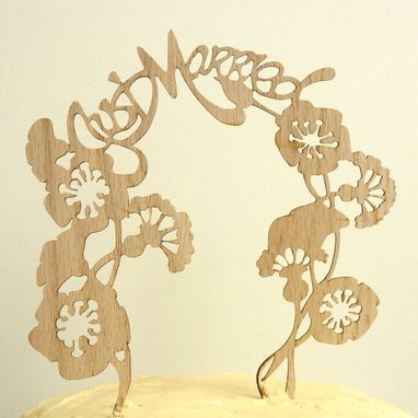 Custom Made Just Married Whimsical Cake Topper