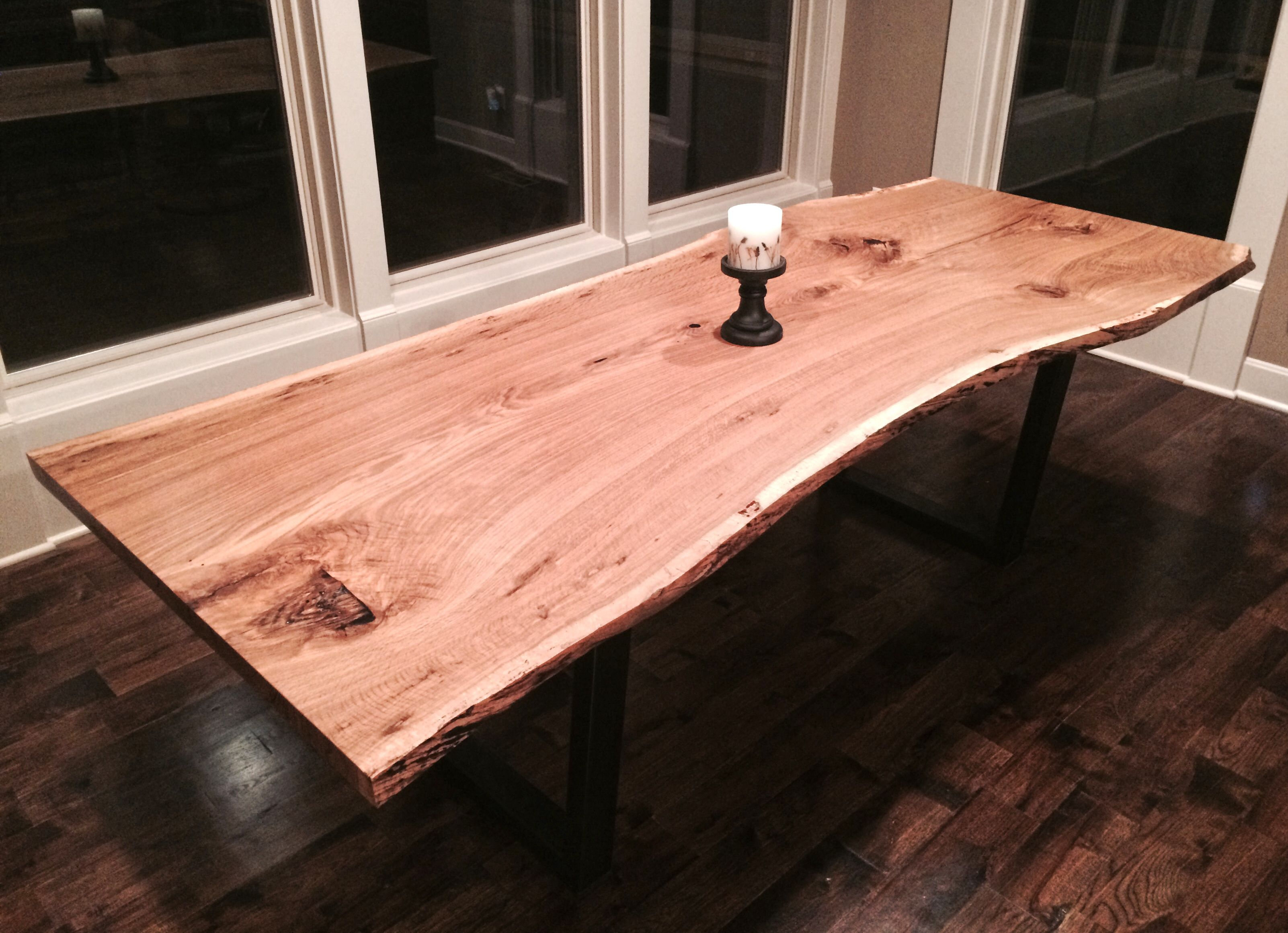 Hand Crafted Live Edge Dining Room Table White Oak By Kc