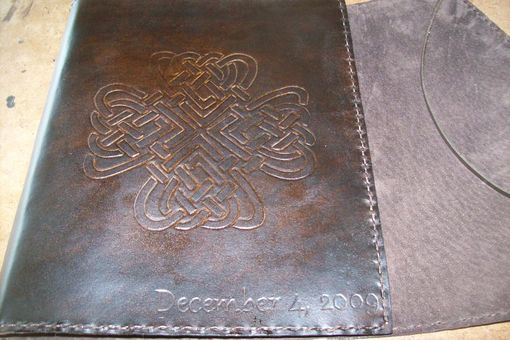 Custom Made Custom Leather Photo Album With Celtic Design