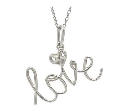 Custom Made Sterling Silver Love Charm