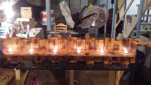 Custom Made Mantle Piece Candle Holder.