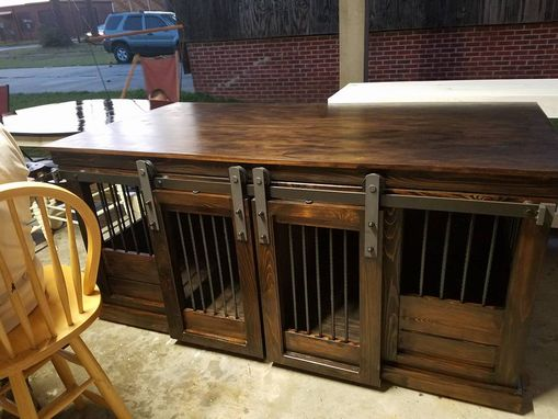 Custom Made Double Dog Crate Credenza