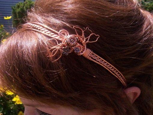 Custom Made Copper Sculptural Headband