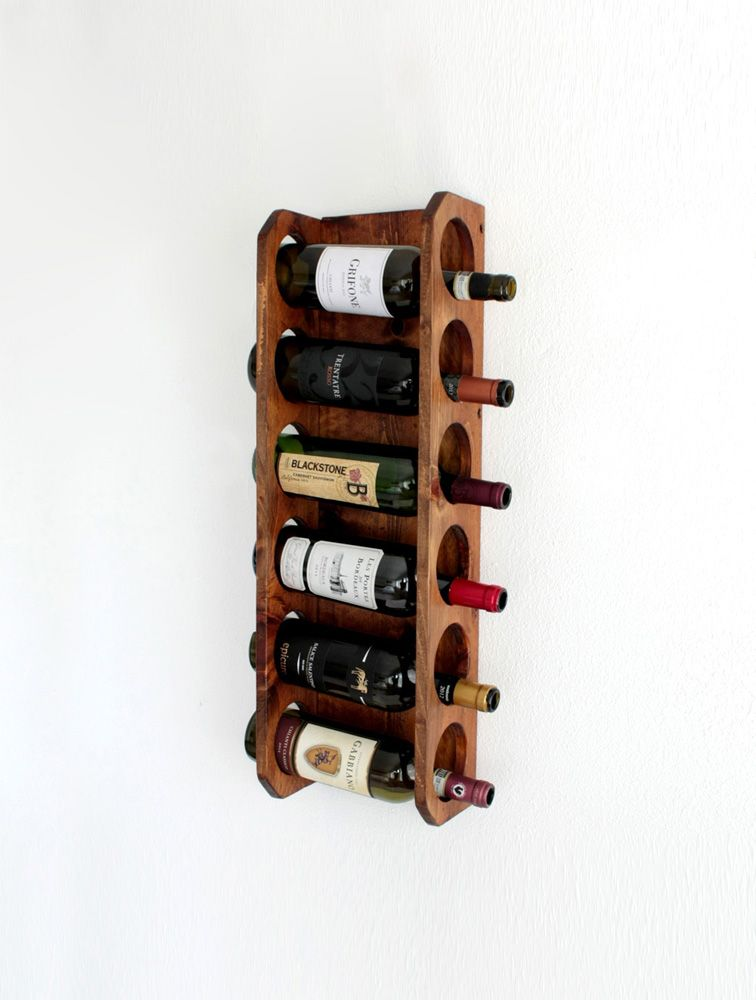 Buy A Hand Crafted Wall Mounted Wine Rackvertical Wine Rack Holds 6
