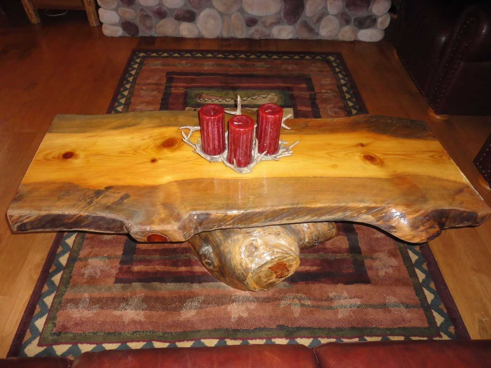 Hand Made Rustic Log Coffee Table by Legacy Woodshop