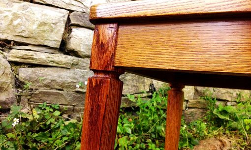 Custom Made Wormy Chestnut Colonial Style Dining Chairs