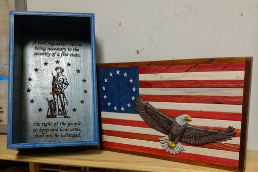 Custom Made American Flag Wall Art-3d American Flag-Flag Art-Carved Flag-Hand Made Flag-Custom American Flag
