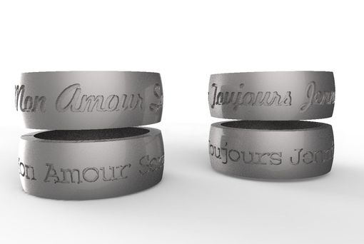 Custom Made Word Text Engagement Inspiration Phrase Ring