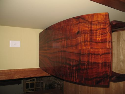 Custom Made Curly Koa And Cocbolo Side Table