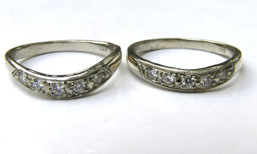 Custom Made Custom Made 3 Ring Bridal Set 18k Gold & Diamond