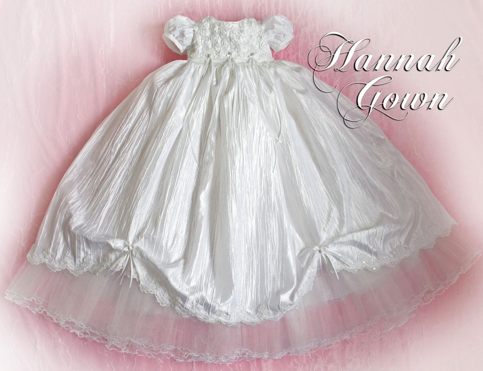 Hand Crafted Hannah Custom Made Christening/Baptism Gown by Sew Tuti ...