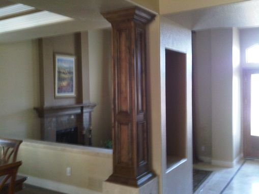 Custom Made Dining Room Hutch And Pillars