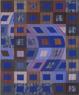 Custom Made Hand Quilted Silk Wall Hanging- Disturbances 2