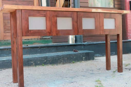 Custom Made Siberian Elm Side Table//Media Center