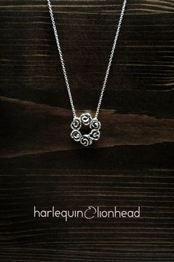 Custom Made Rose Pendant And Necklace - Oxidized Sterling Silver
