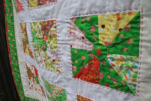 Custom Made Strawberry Fields Baby Quilt