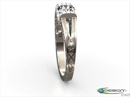 Custom Made Art Deco Engagement Ring