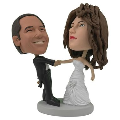 dancing couple wedding cake topper made personalized wedding cake topper of a 13328