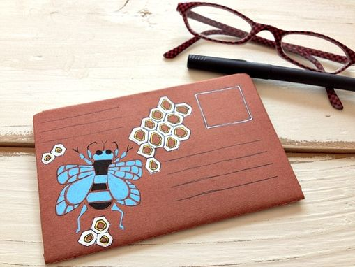 Custom Made Bumble Bee Hand Illustrated Postal Notebook