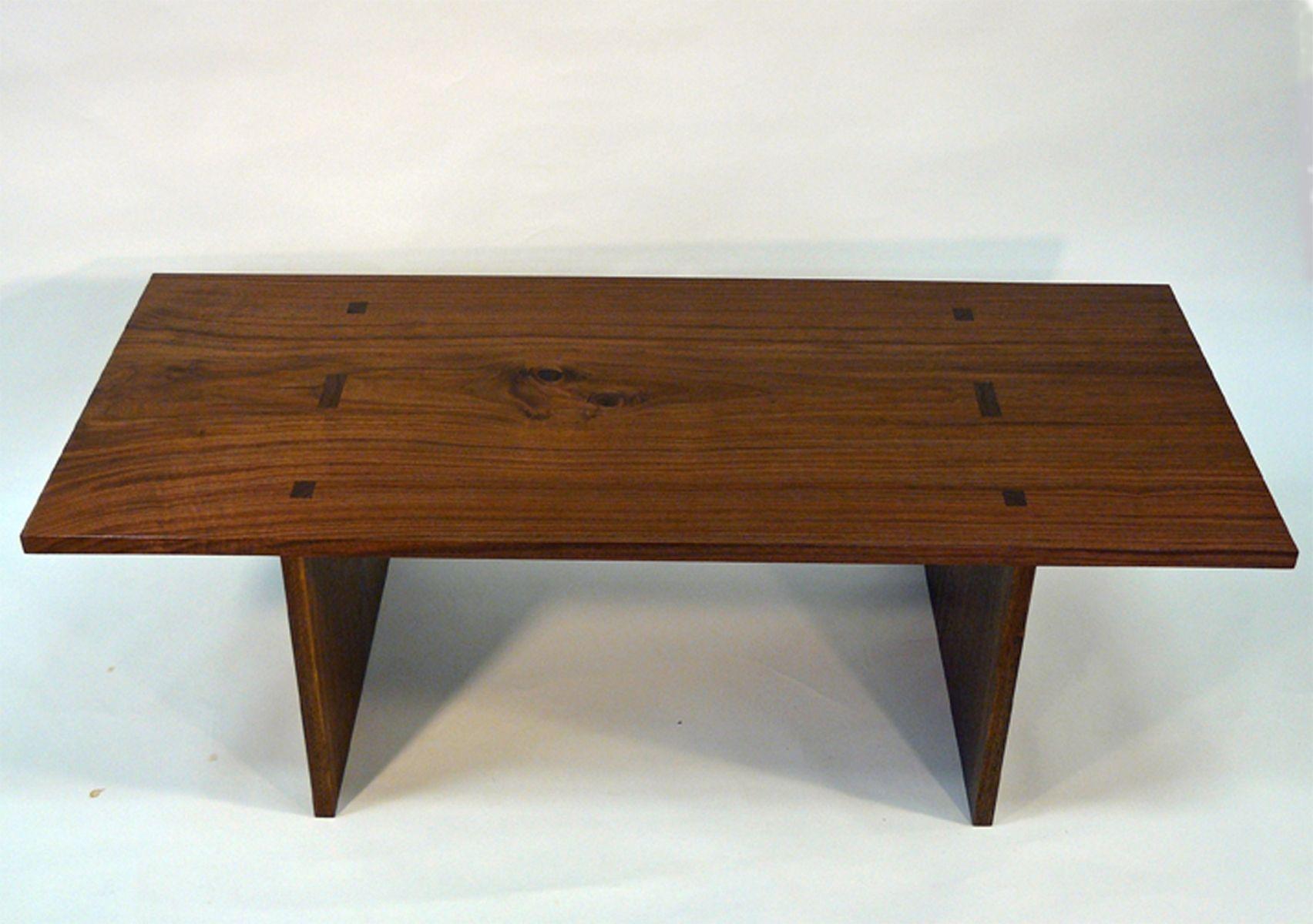 custom made walnut plank coffee tabledavid munkittrick