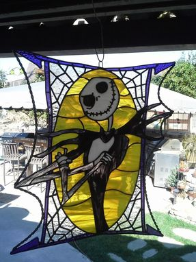 Custom Made Stained Glass - Jack Skellington