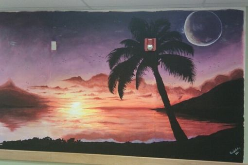 Custom Made Sunset Mural