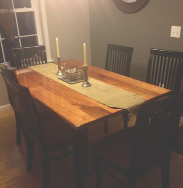 Custom Made Cherry Dining Table For Seating 6 People