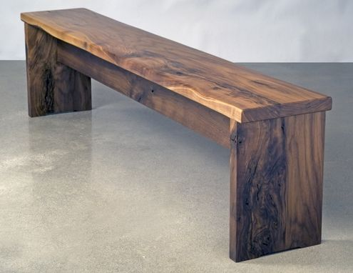 Custom Made Walnut Bench