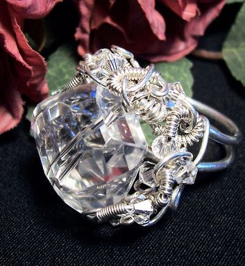 Custom Made Wirewrapped Ring In Argentium Sterling Silver