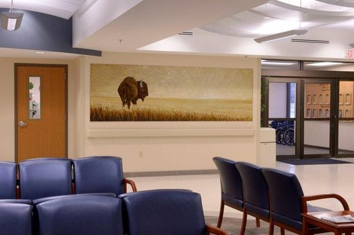 Custom Made Buffalo Mosaic Mural