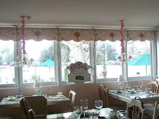Custom Made Hand Painted Canvas Valances