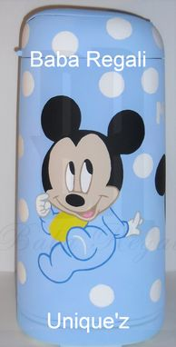 Custom Made Baby Mickey Mouse Diaper Pail